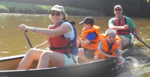 Family trip with Canoe Tamar
